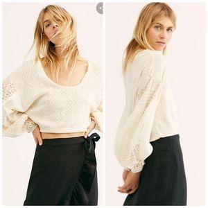 Free PeopleWomen's White Cream Tea Sweater